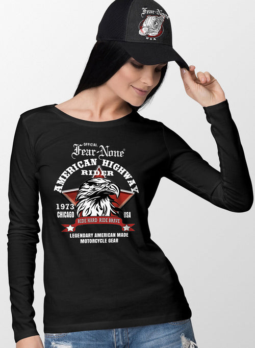 Womens Red Star Eagle Rider Shirt