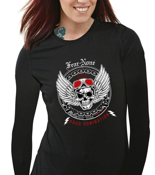 Womens Dominator Rider Black Long Sleeve