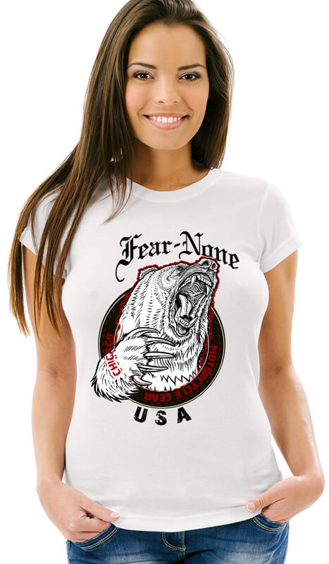 Women's Classic King Bear White Tee