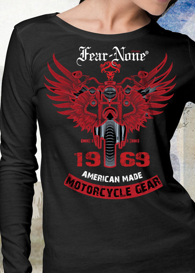 "Women's FEAR-NONE ""1969 Red Wings"" Long Sleeve T Shirt"