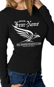 Women's White Flowing Eagle Rider (Long Sleeve)