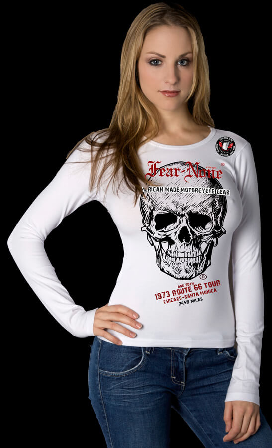 Women's Route 66 Skull Rider Tour Shirt