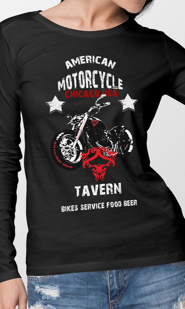 Women's FEAR-NONE American Tavern Logo Rider