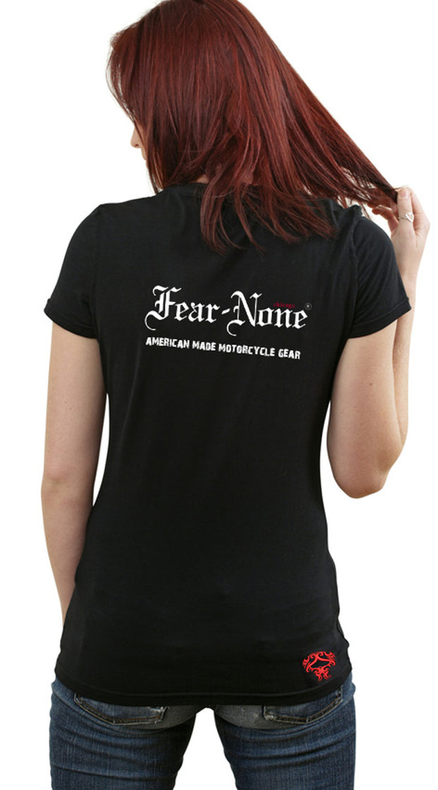 "Women's FEAR-NONE ""Gold Wings"" Short Sleeve T Shirt"