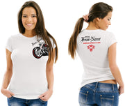 Ladies Side Rider White Tee