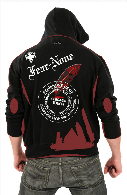 FEAR-NONE Motorcycle Gear Fierce Mens Rider Hoodie