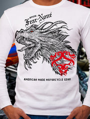 Men's Old School Dragon Long Sleeve