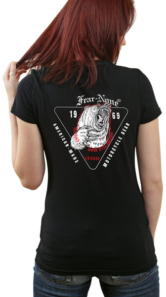 Womens Classic Triangle-Bear Back Rider Shirt