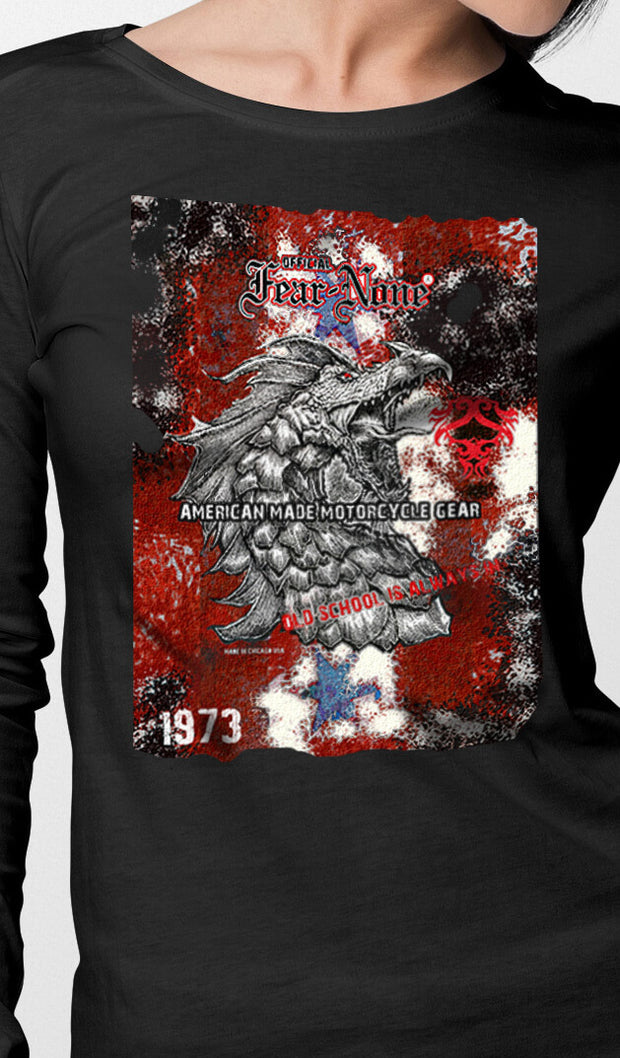 Womens 1973 Red Serpent Rider Shirt