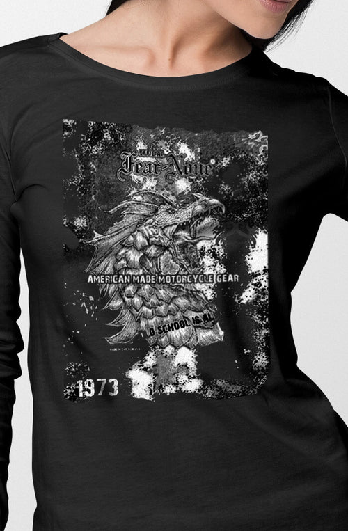 Womens 1973 Black Serpent Rider Shirt