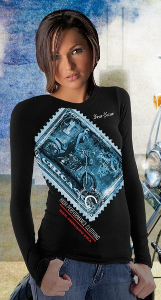 Women's Cool Blue Full Racing Stamp Shirt