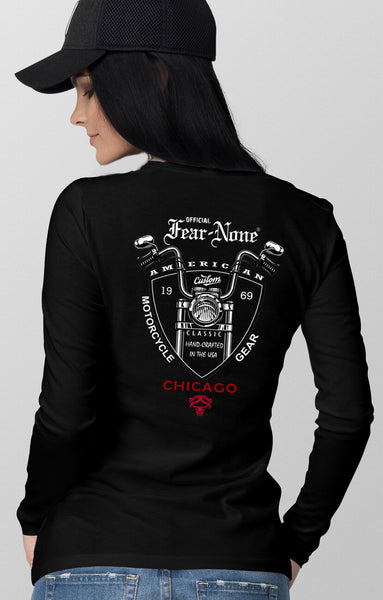 Womens Classic Outlaw-Shield Custom Rider Shirt