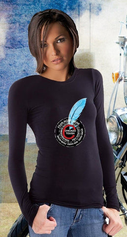 Ladies Blue Feather Coin Rider