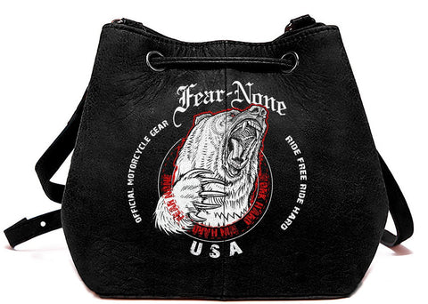 "Official FEAR-NONE Womens ""Meghan's Rider"" Bag (Jet Black)"