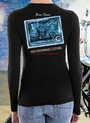 Ladies Blue Stamp Rider