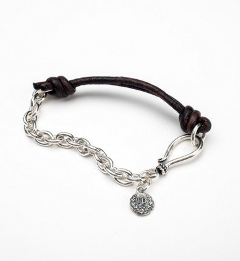 Leather & Sterling bracelet