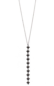 Multi-Cravelli Elongated Drop Pendant w/ Champagne Diamonds
