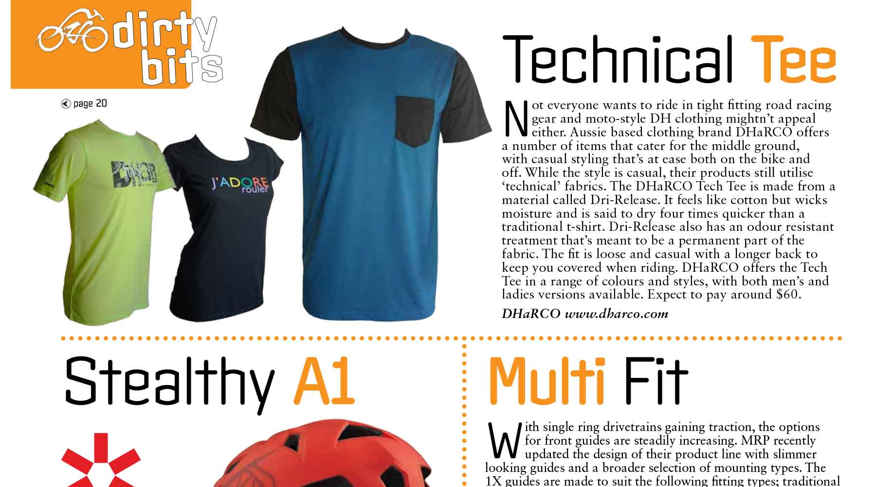Mountain Biking Australia features the DHaRCO Tech Tee