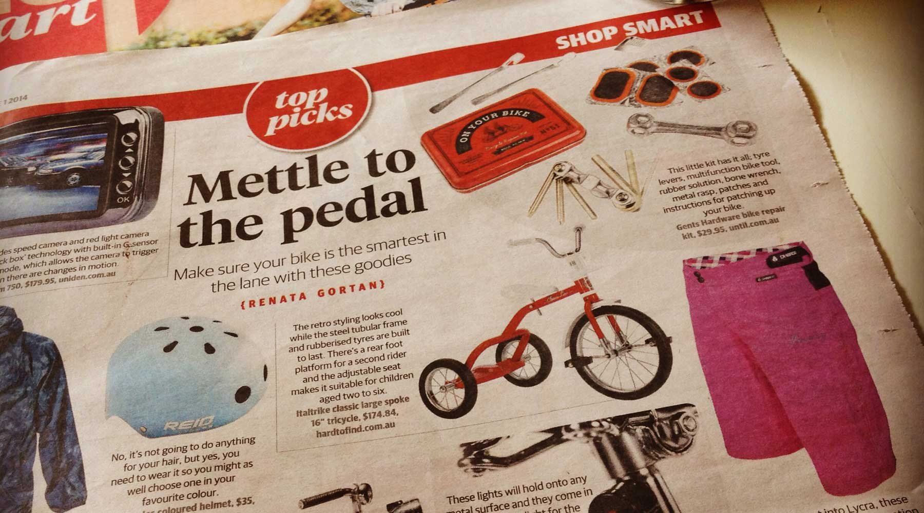 Sunday Telegraph features DHaRCO in Shop Smart