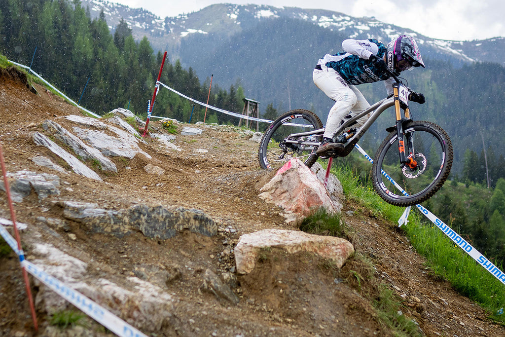 Rain drops during practice round Leogang World Cup