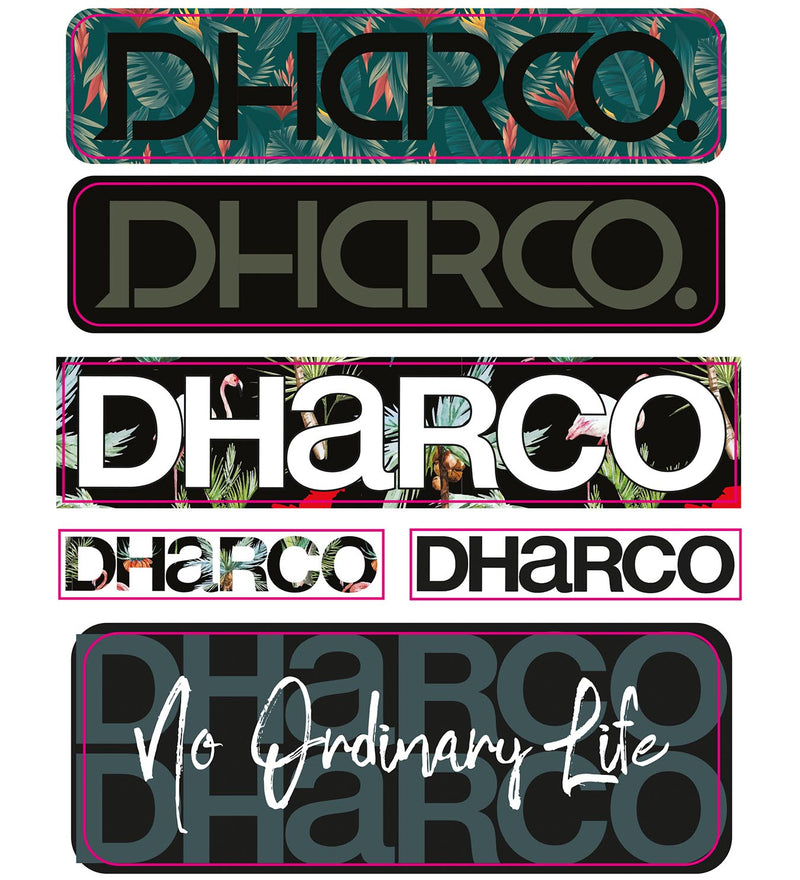 DHaRCO A6 Sticker Sheet
