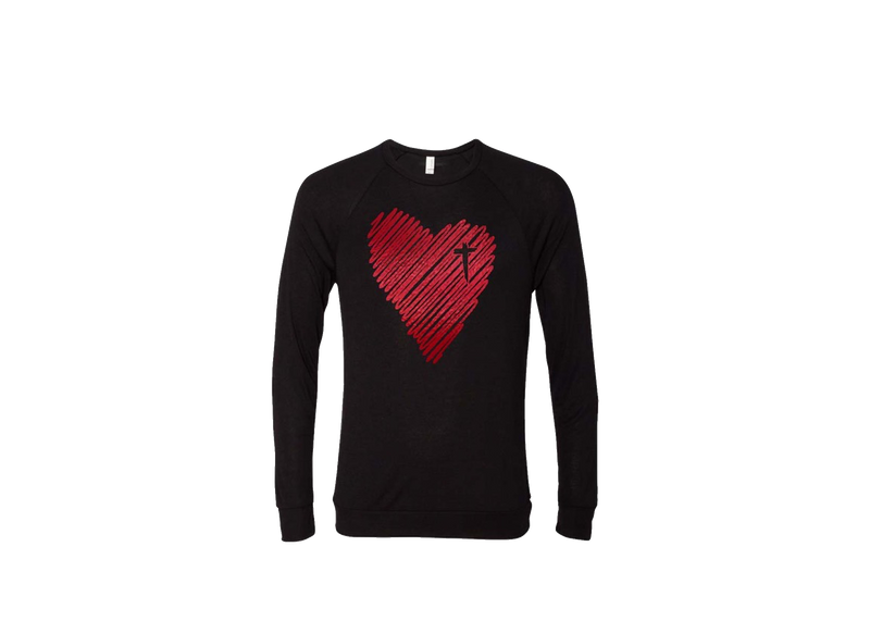 Scribble Heart Long Sleeve Tee