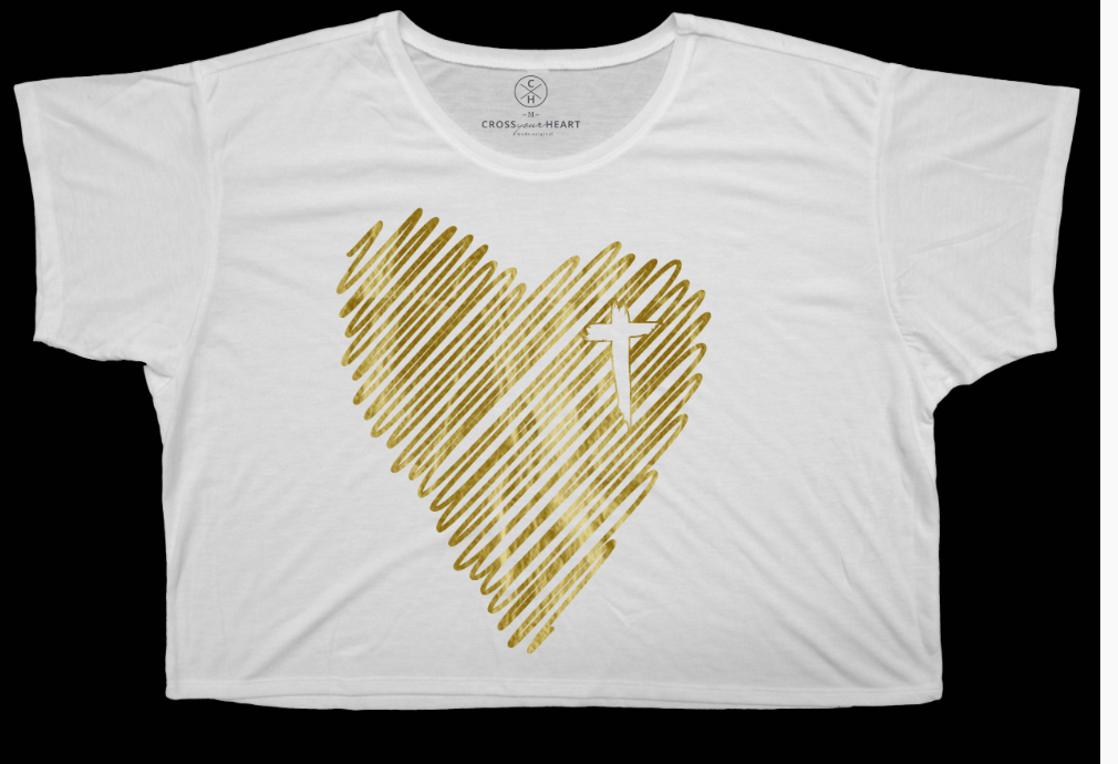 Scribble Heart Boxy Tee
