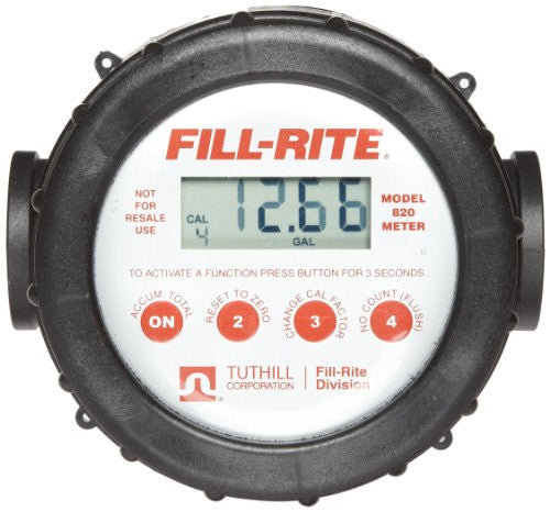 Fill-Rite Series 820 Digital Flow Meter with 1'' Inlet & Outlet