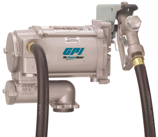 "GPI M-3120, 115 Volt AC, 20 GPM, Manual Unleaded Gasoline, 1"" fitting x 12'-0"""