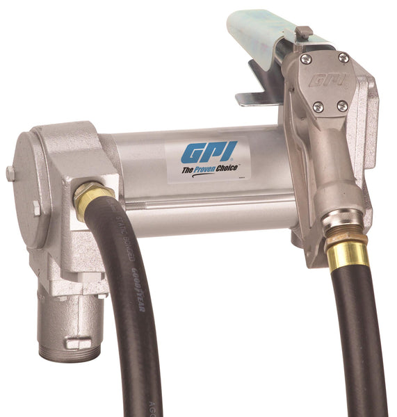 "GPI M-3425, 24 Volt DC, 25 GPM, Manual Unleaded, 1"" x 12'-0"""