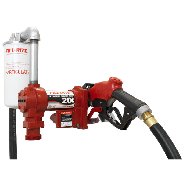 FIll-Rite FR4210GBFQ High-Flow Pump Kit w/ Hose, Nozzle, Filter & Plumbing