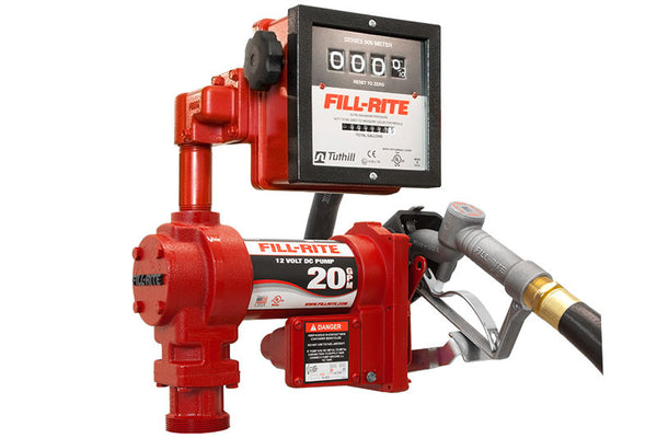 FIll-Rite FR4211GL 12 Volt DC High Flow Pump with Hose, Manual Nozzle and Liter Meter