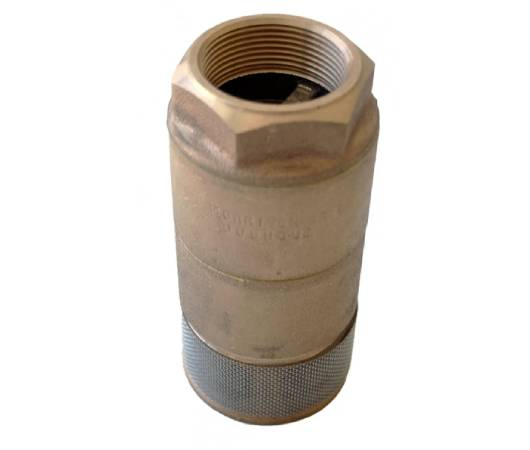 Double-Poppet Foot Valve, Double-Poppet Vertical Check Valve