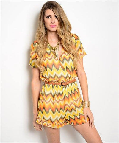 Yellow Office Romper