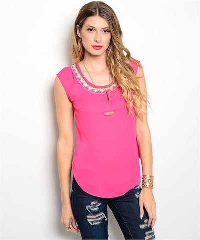 PINK LOW BACK TOP