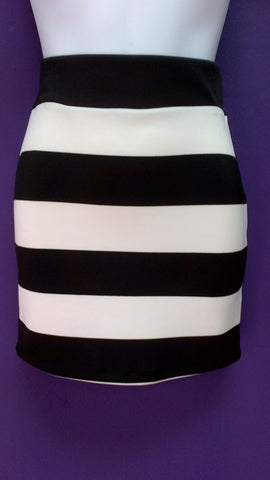 Stripe Short Skirt