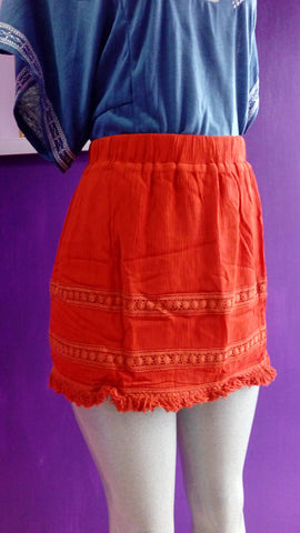 Rust short skirt