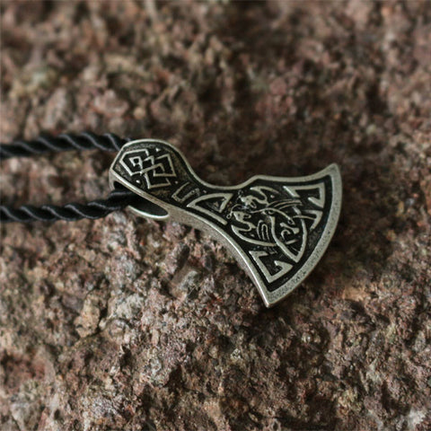 Beautifully Carved Viking/Norse Axe Pendant