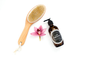 dry skin brush and I Am Aromatics Body OIl