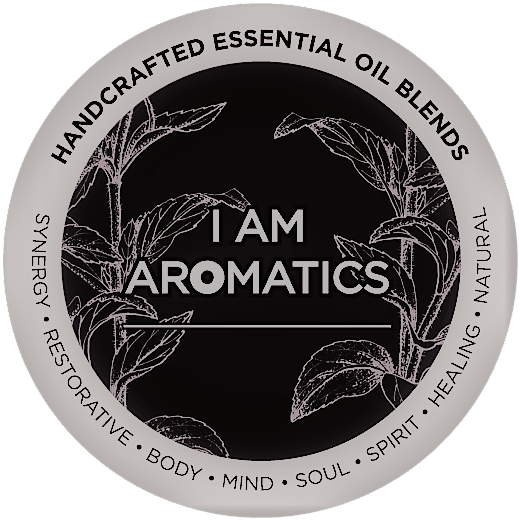 I Am Aromatics Logo / handcrafted essential oil blends