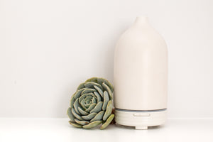 White Ceramic Ultra Sonic Vaporiser - 100ml