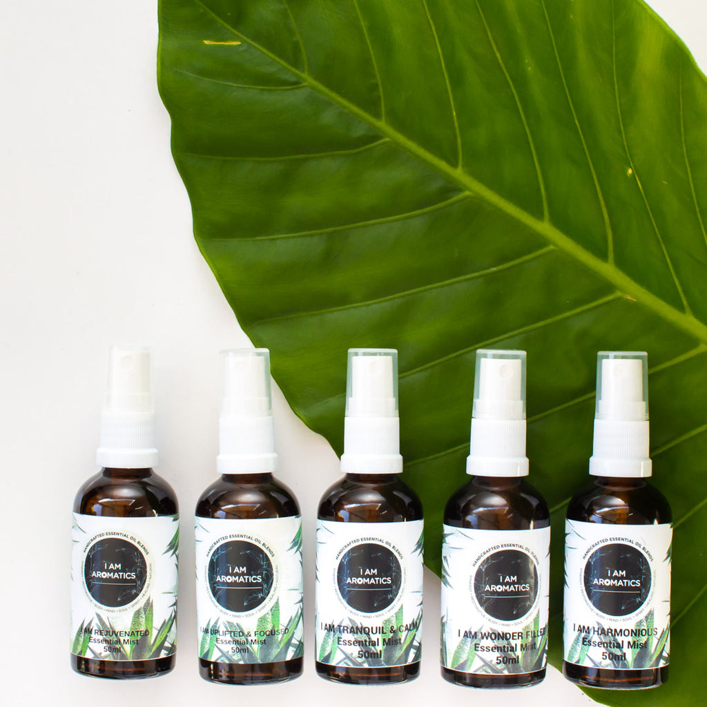 I AM AROMATICS SET OF FIVE ESSENTIAL MISTS