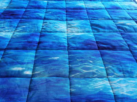 Peaceful Waters Weighted Blanket - MoonlitDreams, peaceful waters weighted blanket - weighted blanket, MoonlitDreams - MoonlitDreams LLC, MoonlitDreams - MoonlitDreams