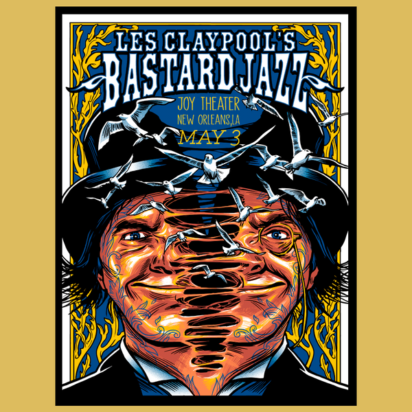 Les Claypool's Bastard Jazz - May 3, 2019 New Orleans, LA Poster