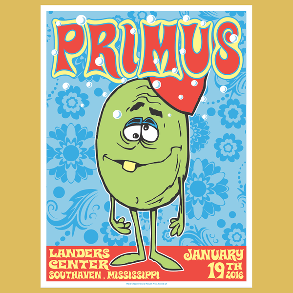 PRIMUS - Jan 19th 2016 - Southaven, MS Poster