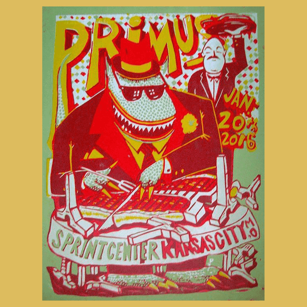 PRIMUS - Jan 20th 2016 - Kansas City, MO Poster