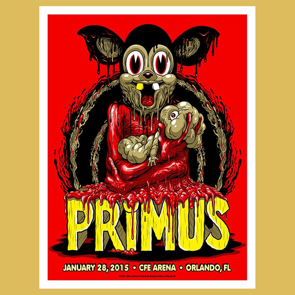 PRIMUS - Jan 28th 2016 - Orlando, FL Poster
