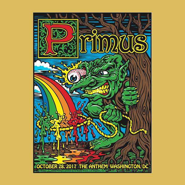 PRIMUS - Oct 28th 2017 - Washington, DC Poster