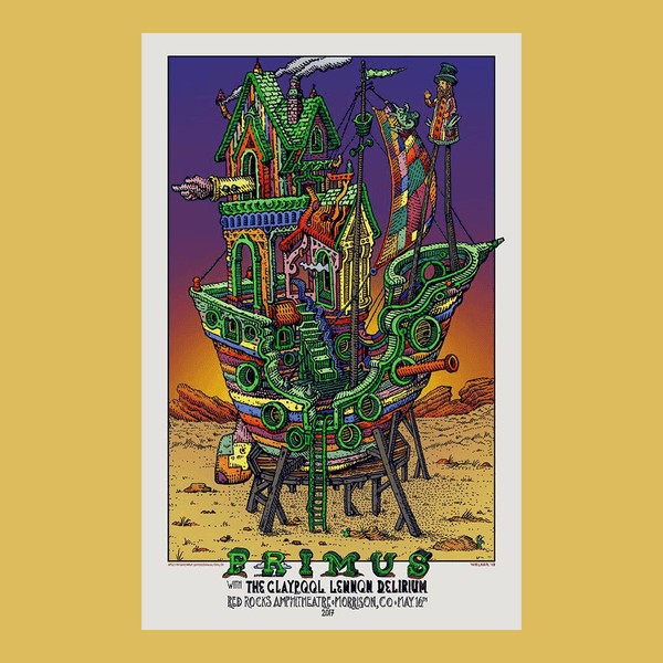 PRIMUS - May 16th 2017 - Red Rocks, CO Poster
