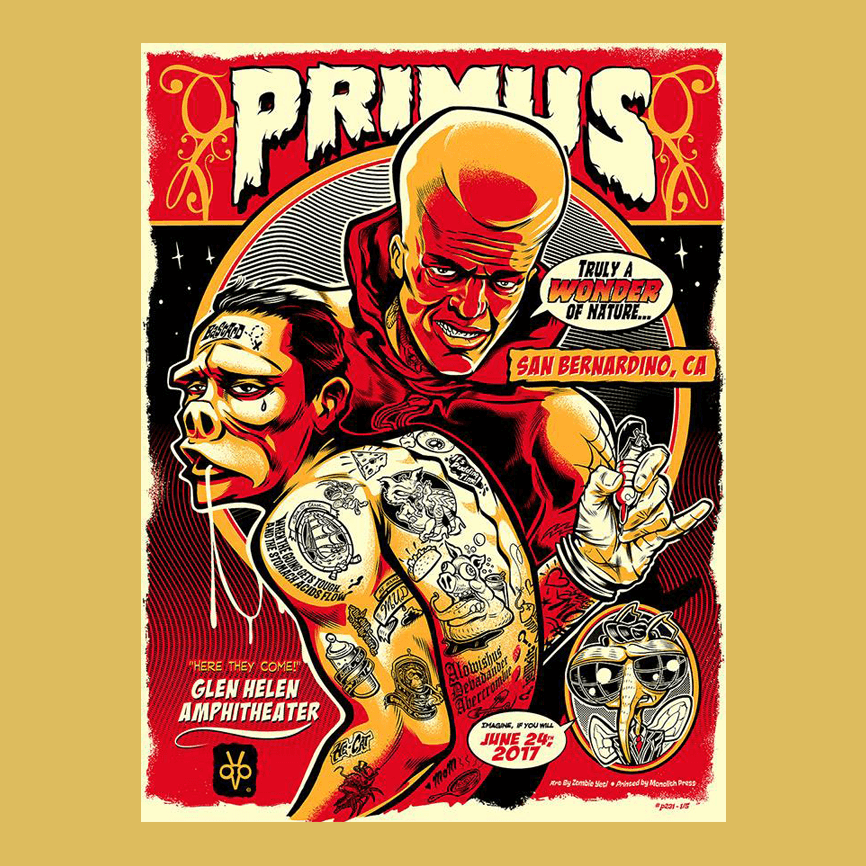 PRIMUS - June 24th 2017 - San Bernardino, CA Poster